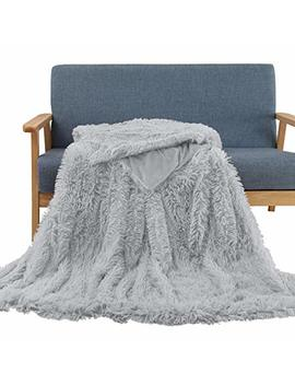 "Soffte Cloud Super Soft Long Shaggy Warm Plush Fannel Blanket Throw Qulit Cozy Couch Blanket For Winter Throw Grey(51""X63"") by Soffte Cloud"