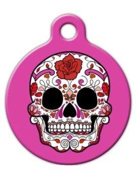 Dia De Los Muertos Sugar Skull Pet Id Tag For Dogs And Cats   Dog Tag Art by Dog Tag Art