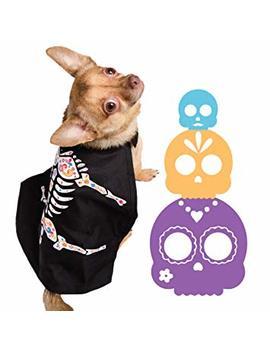 Pet Krewe Day Of The Dead Dog Costume   El Día De Los Muertos Dog Cape by Pet Krewe Unleash The Parade
