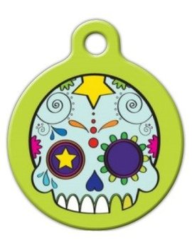 Dia De Los Muertos   Custom Pet Id Tag For Dogs And Cats   Dog Tag Art by Dog Tag Art