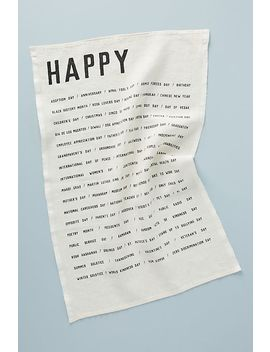 Happy Dish Towel by Sir/Madam