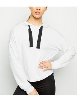 White Sports Hoodie by New Look