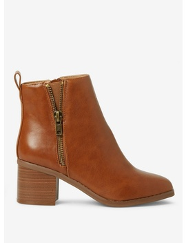 Wide Fit Tan 'alceed' Ankle Boots by Dorothy Perkins