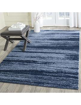 Safavieh Retro Collection Ret2693 6065 Modern Abstract Light Blue And Blue Square Area Rug (6' Square) by Safavieh
