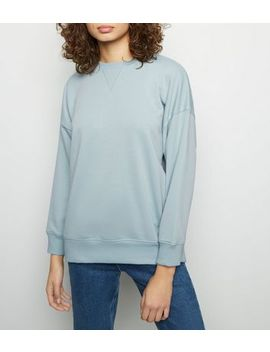 Mint Green Triangle Stitch Front Sweatshirt by New Look