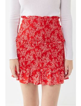 Uo Victoria Smocked Mini Skirt by Urban Outfitters