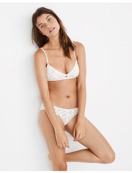 Cotton Modal® Eliza Cutout Bralette In Starry Sky by Madewell