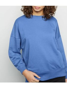 Bright Blue Crew Neck Sweatshirt by New Look