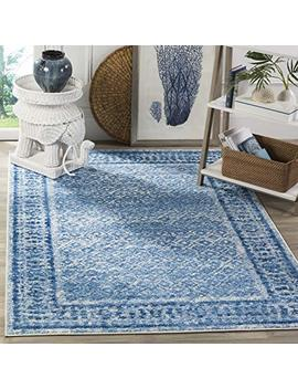 Safavieh Adirondack Collection Adr110 D Silver And Blue Vintage Distressed Square Area Rug (6' Square) by Safavieh
