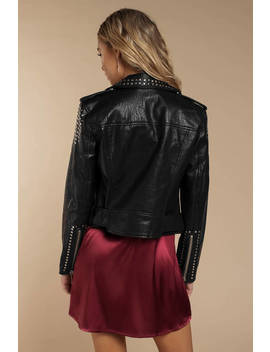 Pistola Tracy Black Cropped Moto Jacket by Tobi