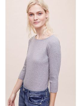 Zora Ribbed Bodysuit by Anthropologie
