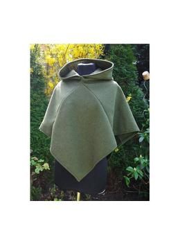 Viking Gugel Hood Skjoldehamn Green Medieval Wool Reenactment Larp Fantasy by Etsy