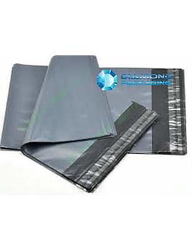 Diamond Packaging® 100 Mixed Grey Plastic Mailing Mail Post Postage Bags by Diamond Packaging
