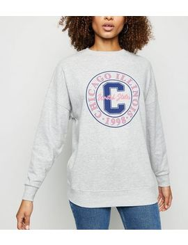 Grey Marl Chicago Slogan Sweatshirt by New Look