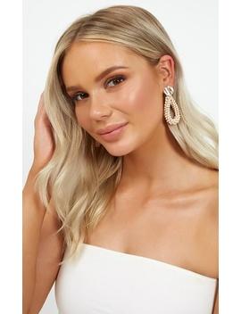 Nice Enough Earrings In Blush by Showpo Fashion