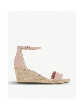 Espadrille Mid Wedge Leather Sandals by Dune