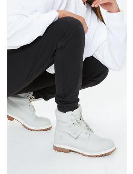 Timberland Light Grey Premium 6 Inch Boots by Missguided