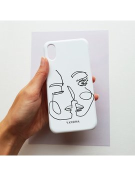 Abstract Line Art Personalised Phone Case   Iphone 8 Plus Case, Iphone 7 Plus Case, Samsung Galaxy S8 Case, Minimal Style Phone Case by Etsy