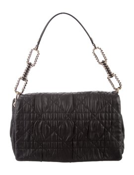 Quilted Leather Shoulder Bag by Christian Dior