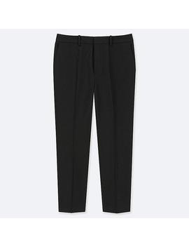 Women Easy Care Stretch Cropped Trousers by Uniqlo