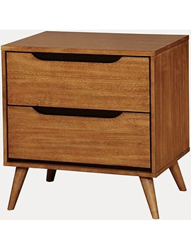 "Furniture Of America Cm7386 A N Lennart Oak Nightstands, 24"" H by Furniture Of America"