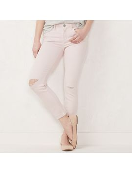 Women's Lc Lauren Conrad Feel Good Cuffed Midrise Skinny Ankle Jeans by Kohl's