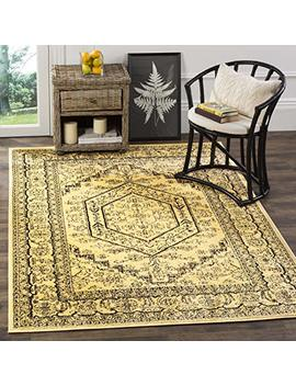 "Safavieh Adirondack Collection Adr108 H Gold And Black Oriental Vintage Medallion Area Rug (5'1"" X 7'6"") by Safavieh"