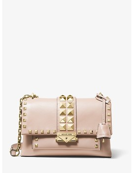 Cece Medium Studded Leather Shoulder Bag by Michael Michael Kors