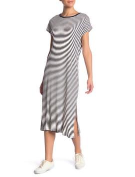 Make It New Striped Crew Neck Midi Dress by Roxy