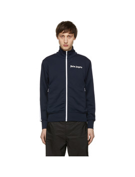 Blue & White Classic Track Jacket by Palm Angels