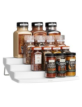 You Copia Spicesteps 4 Tier Kitchen Cabinet Spice Shelf Organizer, 24 Bottle, White by You Copia
