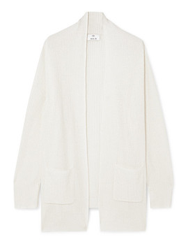 Ribbed Cashmere Cardigan by Allude