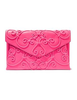 Appliquéd Leather Envelope Clutch by Valentino Garavani