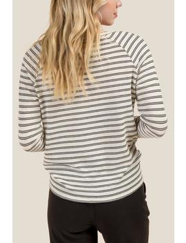 Sterling Textured Stripe Knot Front Tee by Francesca's