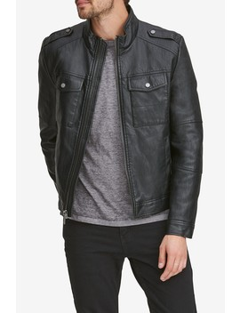Bruckner Faux Leather Jacket by Andrew Marc