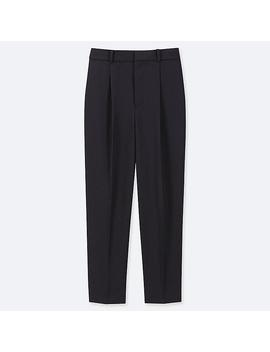 Women Drape Tapered Ankle Length Pants by Uniqlo