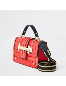 Bright Red Quilted Satchel Cross Body Bag by River Island