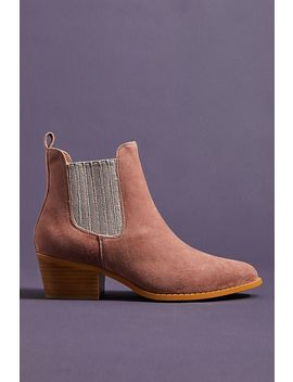 Anthropologie Metallic Chelsea Booties by Anthropologie