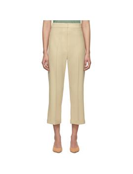 Beige 'le Pantalon Sabbia' Trousers by Jacquemus