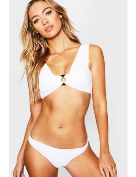 Underwired Textured Bikini by Boohoo