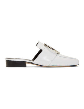 White Petrol Loafers by Dorateymur