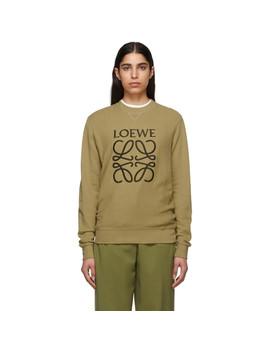Beige Anagram Sweatshirt by Loewe
