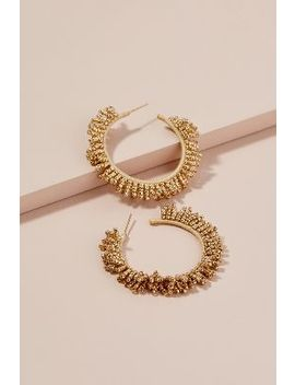 Ava Beaded Hoop Earrings by Anthropologie