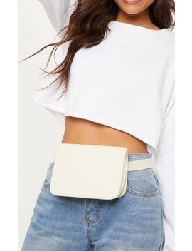 Cream Croc Belted Fanny Pack by Prettylittlething