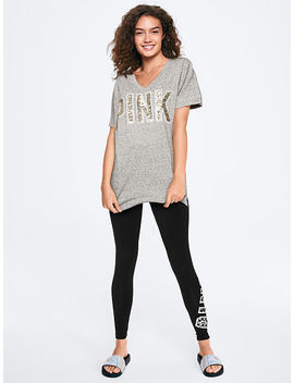 New! Bling Campus Short Sleeve Football Tee by Victoria's Secret