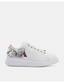 Printed Platform Sole Trainers by Ted Baker
