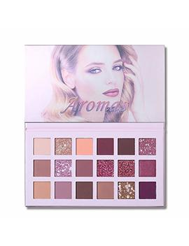 Ucanbe Aromas Eyeshadow Palette Glitter Shimmer Pressed Pearls Reflective Eye Shadow 18 Colors Pigmented Shadow Palette Nude Pink Copper Long Lasting Waterproof Eye Make Up Cosmetics by Jgb