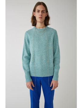 Classic Sweater Pale Blue Melange by Acne Studios
