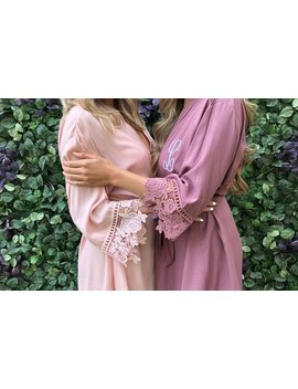 Set Of 5,6,7,8,9,10,11,12,13 Bridesmaid Robes*Bridesmaid Gifts*Mother Of The Bride*Petal Patrol*Cotton Lace Robes*Bridal Party Robes* by Etsy