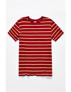 Insight Chilli Stripe T Shirt by Pacsun